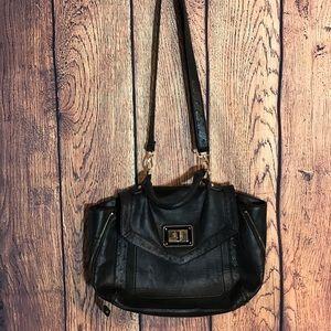 Aldo Pleather Satchel Bag Black Ostrich Texture